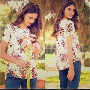Gorgeous Ivory Floral Top